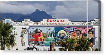 Ramada Kingman Arizona Canvas Print by Bonnie Follett