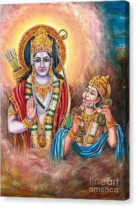 Ramayanam Sundarakandam Canvas Print by Murali