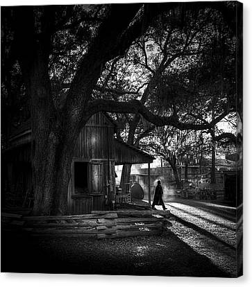 Ranch Hand Bw Canvas Print by Marvin Spates
