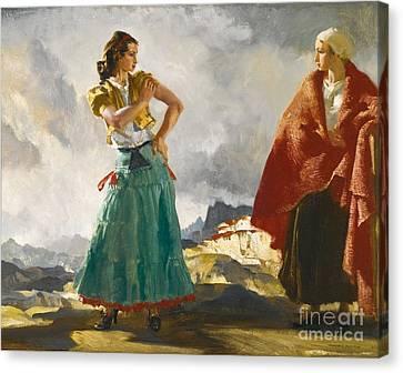 Raquel And Manuella, Canvas Print by MotionAge Designs