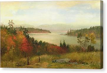 Raquette Lake Canvas Print by Homer Dodge Martin