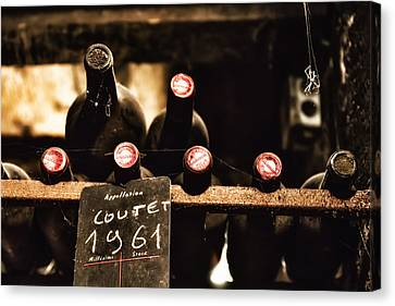 Rare Vintage Wine In The Cellar Canvas Print by Georgia Fowler
