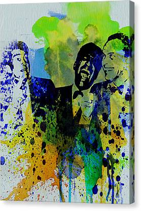 Rat Pack Canvas Print by Naxart Studio