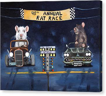 Rat Race Canvas Print by Leah Saulnier The Painting Maniac