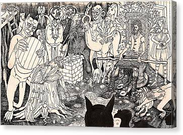 Rathbone Meets The Forest Lord Canvas Print by Al Goldfarb