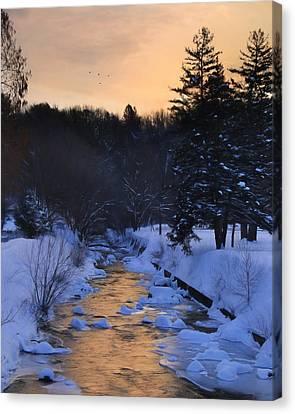 Rattling Creek At Dawn Canvas Print by Lori Deiter