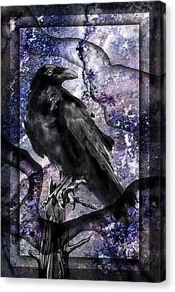 Raven Canvas Print by Tim Thomas