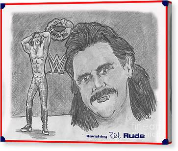 Ravishing Rick Rude Canvas Print by Chris  DelVecchio