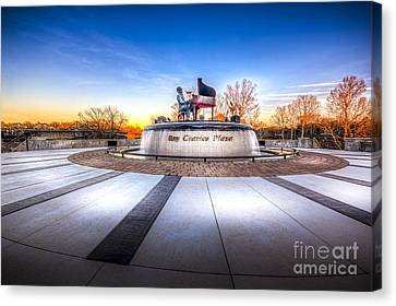 Ray Charles Plaza Canvas Print by Marvin Spates