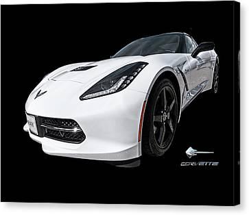 Ray Of Light - Corvette Stingray Canvas Print by Gill Billington