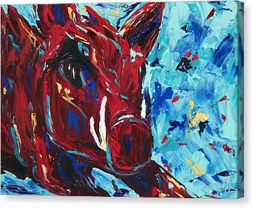 Razorback Canvas Print by Beth Lenderman