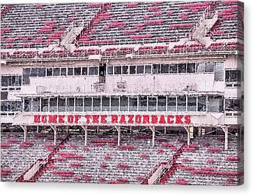 Razorback Stadium Canvas Print by JC Findley