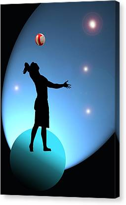 Reach For The Stars Canvas Print by Barbara  White