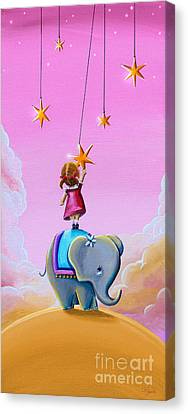 Reach For The Stars - Remixed Canvas Print by Cindy Thornton