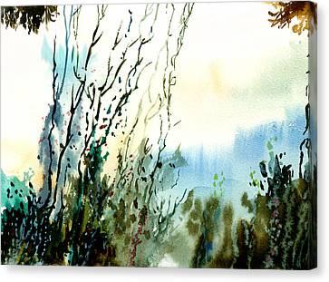 Reaching The Sky Canvas Print by Anil Nene