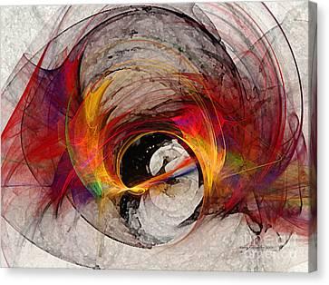 Reaction Abstract Art Canvas Print by Karin Kuhlmann