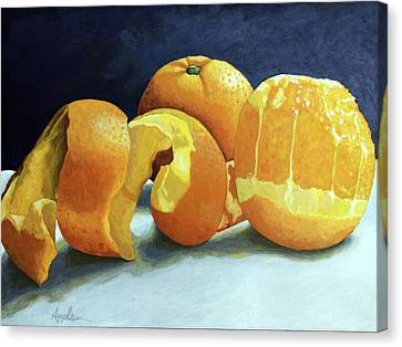 Ready For Oranges Canvas Print by Linda Apple