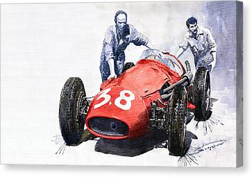 Ready For Racing Maserati 250 F Canvas Print by Yuriy  Shevchuk