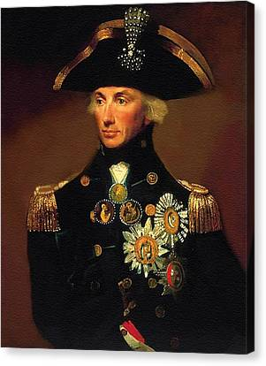 Rear- Admiral Lord Horatio Nelson - 1758-1805 After L F Abbott. P B Canvas Print by Gert J Rheeders