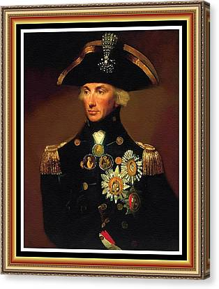 Rear- Admiral Lord Horatio Nelson - 1758-1805 After L F Abbott. P B With Alt. Ornate Printed Frame. Canvas Print by Gert J Rheeders