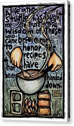 Recipes Canvas Print by Ricardo Levins Morales