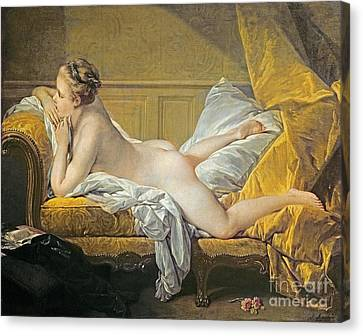 Reclining Nude Canvas Print by Francois Boucher