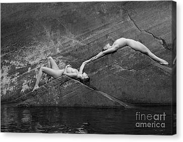 Reclining Nudes Canvas Print by Inge Johnsson