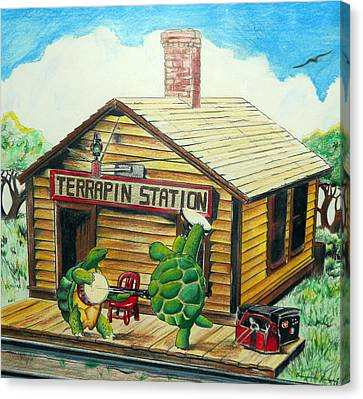 Recreation Of Terrapin Station Album Cover By The Grateful Dead Canvas Print by Ben Jackson