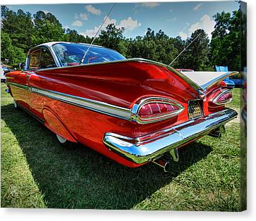 Red '59 Impala 001 Canvas Print by Lance Vaughn