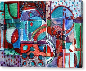 Red And Green Jazz Canvas Print by Mindy Newman