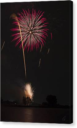 Red And Silver Display 2 Canvas Print by Chris Thomas