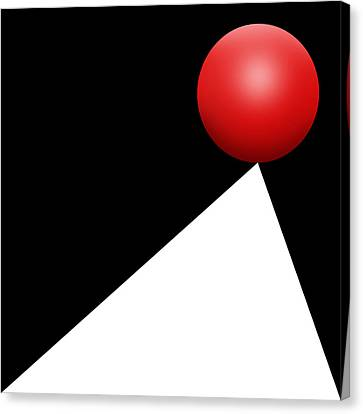 Red Ball S Q 10 Canvas Print by Mike McGlothlen
