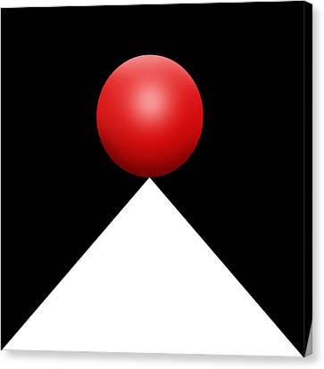 Red Ball S Q 3 Canvas Print by Mike McGlothlen