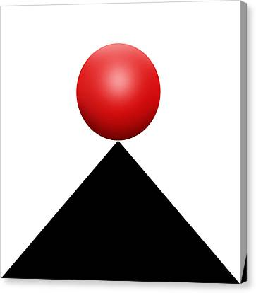 Red Ball S Q 4 Canvas Print by Mike McGlothlen