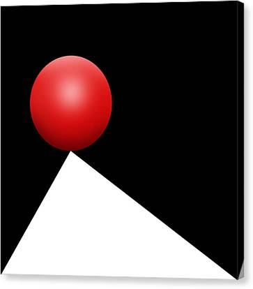 Red Ball S Q 5 Canvas Print by Mike McGlothlen