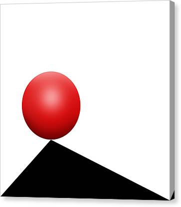 Red Ball S Q 7 Canvas Print by Mike McGlothlen