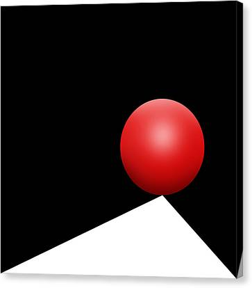 Red Ball S Q 8 Canvas Print by Mike McGlothlen