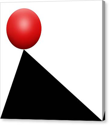 Red Ball S Q 9 Canvas Print by Mike McGlothlen