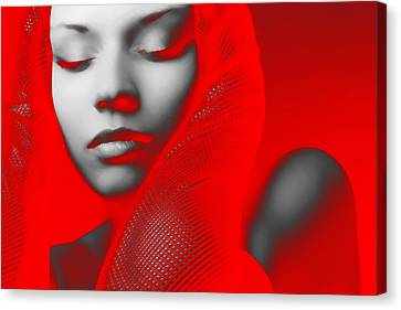 Red Beauty  Canvas Print by Naxart Studio