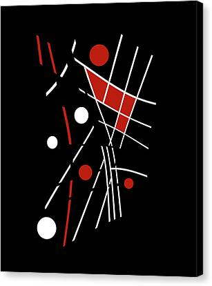 Red, Black And White Abstraction Canvas Print by Valentina Hramov