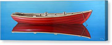 Red Boat Canvas Print by Horacio Cardozo