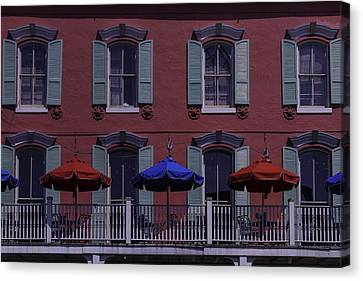 Red Building Canvas Print by Garry Gay