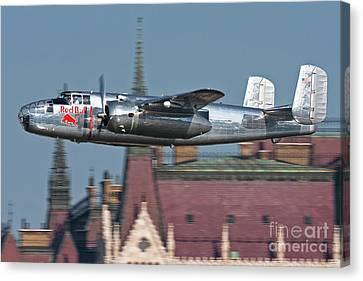 Red Bull North American B-25j Mitchell Canvas Print by Anton Balakchiev