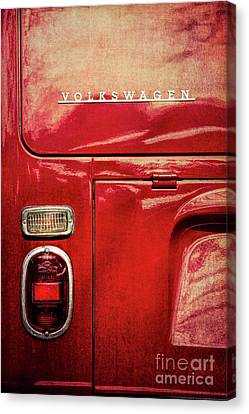 Red Camper Canvas Print by Tim Gainey