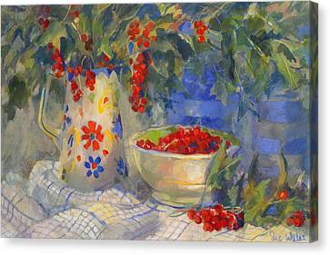 Red Currants Canvas Print by Sue Wales