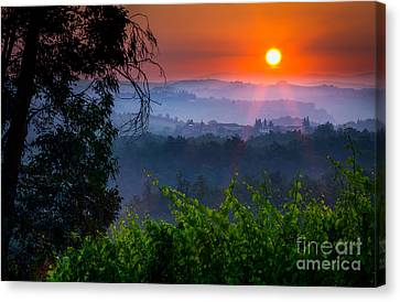 Red Dawn Canvas Print by Inge Johnsson