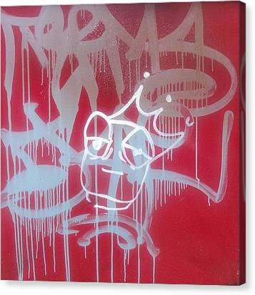 Red Graffiti Canvas Print by Anna Villarreal Garbis