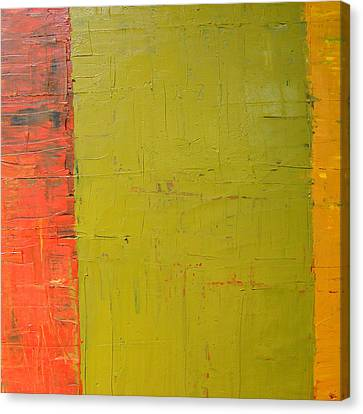 Red Green Yellow Canvas Print by Michelle Calkins
