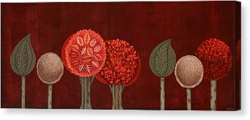 Red Grove Canvas Print by Graciela Bello