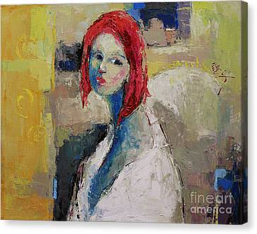 Red Haired Girl Canvas Print by Becky Kim